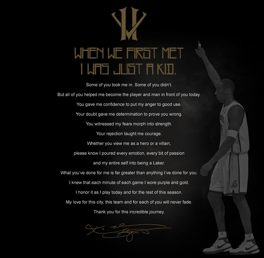 Letter from Kobe